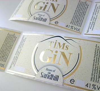 Etikett GIN Sandhill