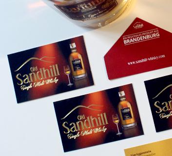 Entwicklung Visitenkarte Sandhill